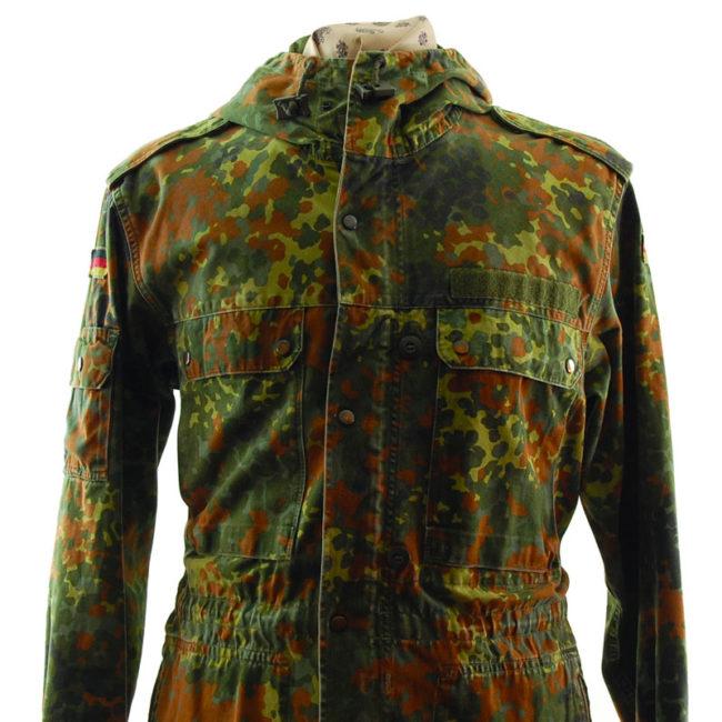 close up of 1991 German Flecktarn Camo Jacket