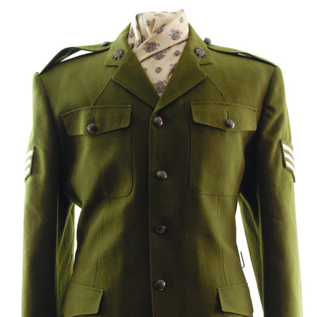 close up of British Dress Army Jacket