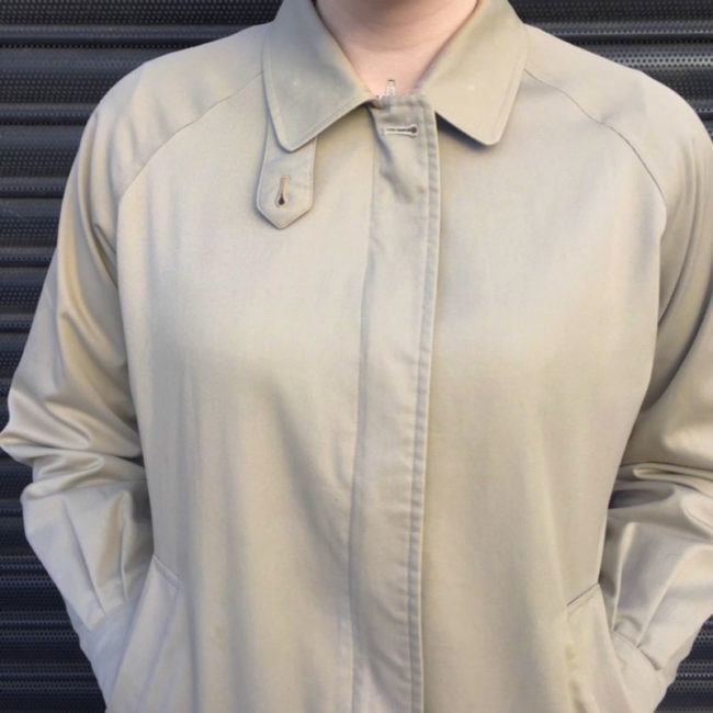 close up of Burberry Beige Jacket