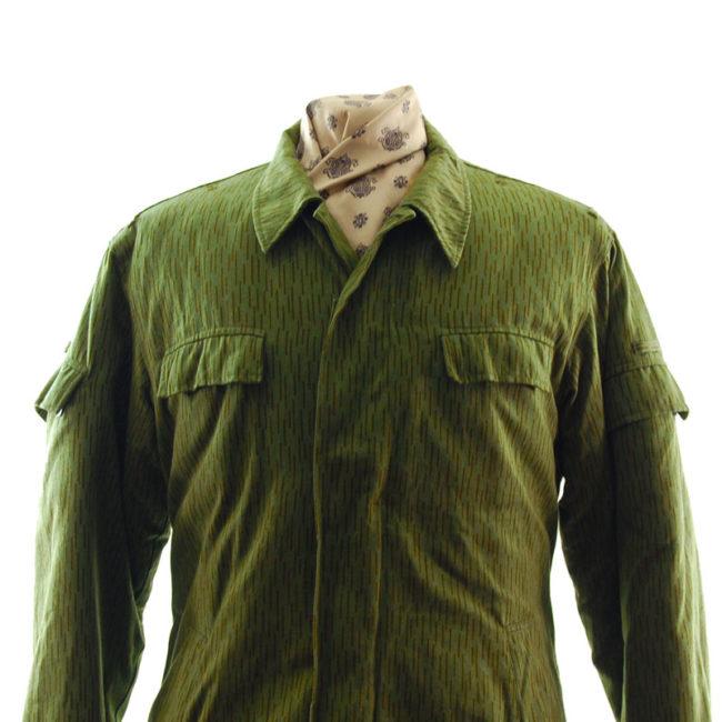 close up of East German Rain Camouflage Jacket