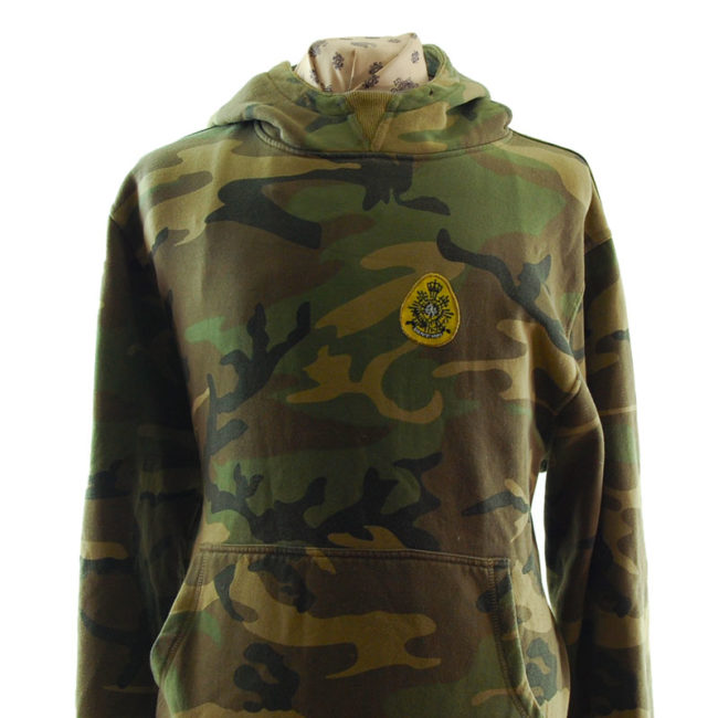 close up of Kosumo Street Fighter Camouflage Hoodie