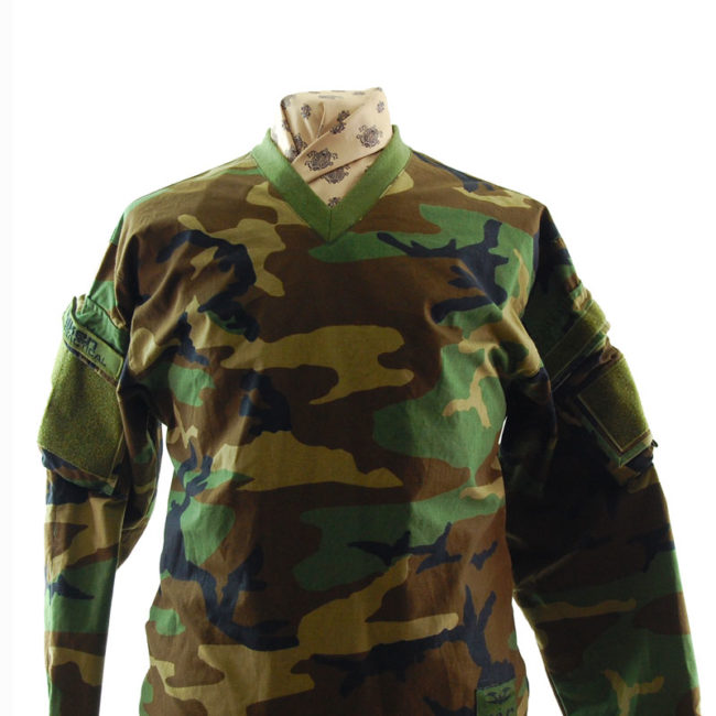 closeup of T.A.C Camouflage Long Sleeve Top