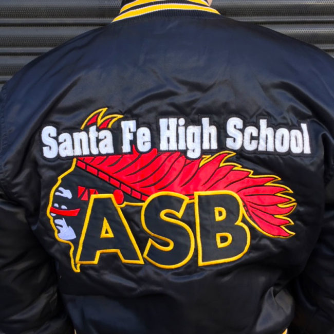 close up of USA High School Baseball Jacket