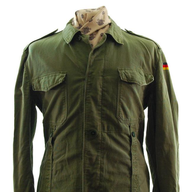 close up of Vintage German Military Jacket