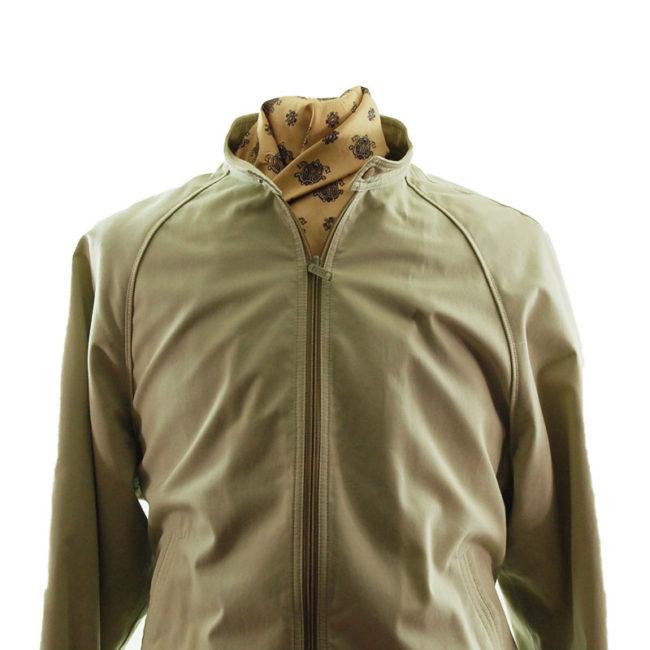 close up of Vintage Mens Cream Long Jacket