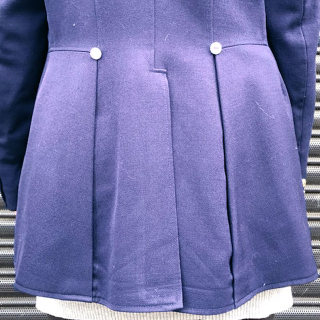 close up of Womens Navy Blue Pikeur Equestrian Jacket