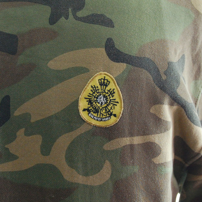 detailing of Kosumo Street Fighter Camouflage Hoodie