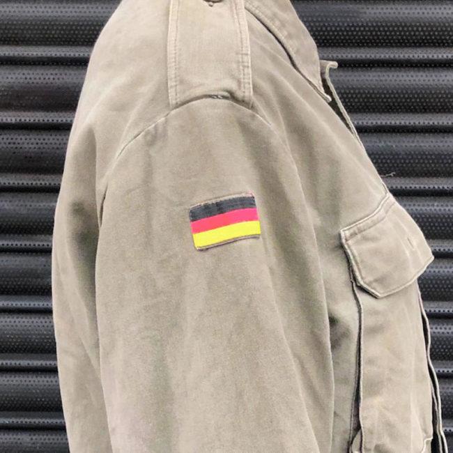 flag on Plain Green German Camouflage Jacket