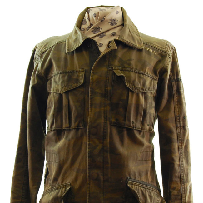 front of O'Neill Camo Military Inspired Jacket