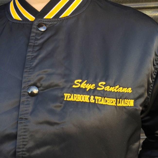 front of USA High School Baseball Jacket