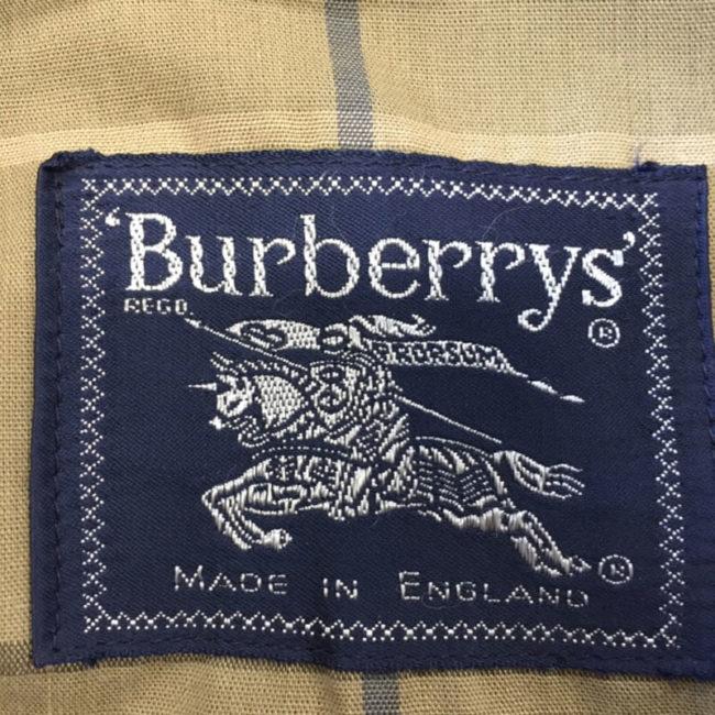 label for Burberry Beige Jacket