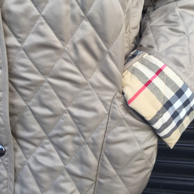 nova check Burberry Cream Quilted Jacket