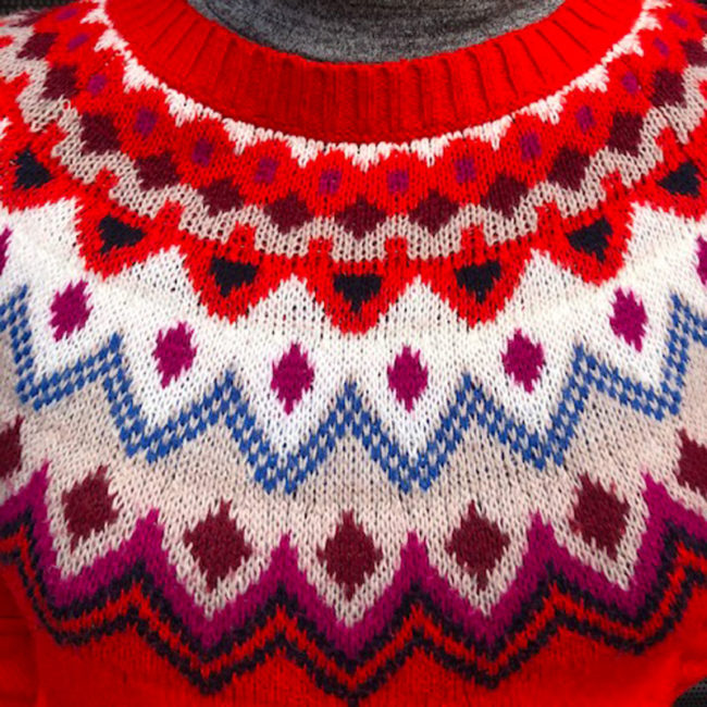 pattern of 80s Old Navy Womens Red Jumper