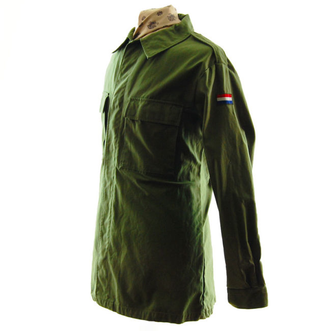 side of 1988 French Cotton Military Jacket