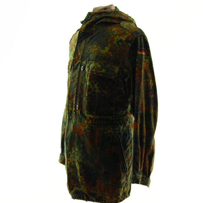 side of 1991 German Flecktarn Camo Jacket
