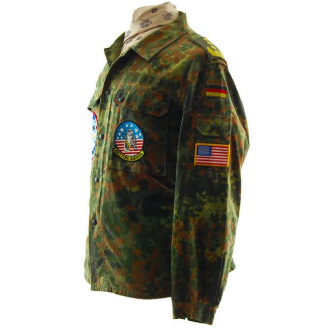 side of 1996 Flecktarn Camouflage Jacket