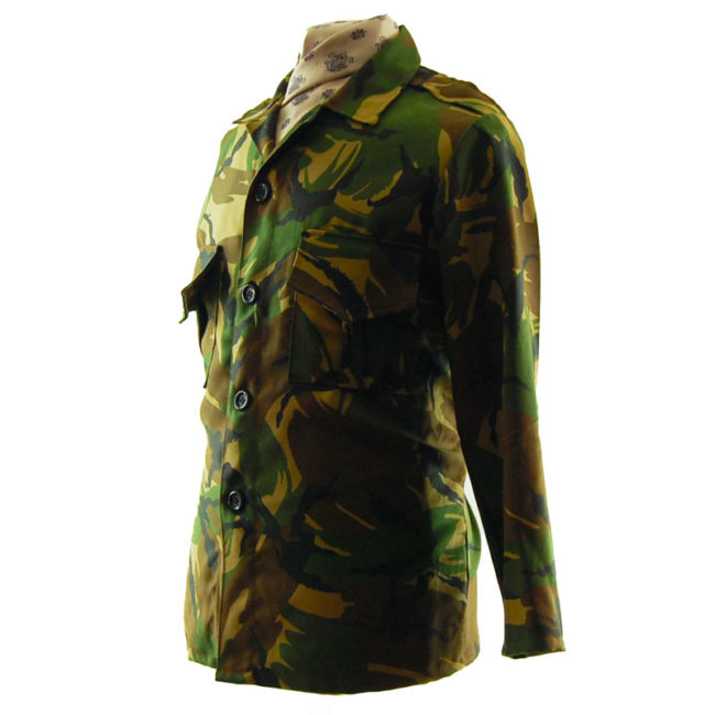 side of Fancy Dress Camouflage Jacket
