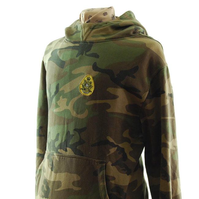 side of Kosumo Street Fighter Camouflage Hoodie