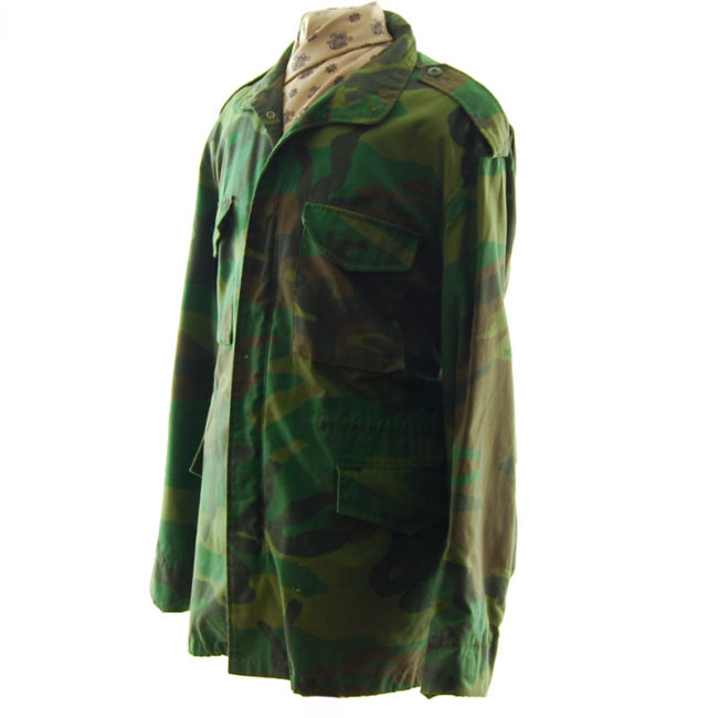 side of Real Military Camouflage Jacket