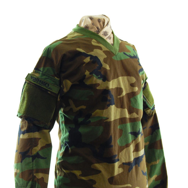 side of T.A.C Camouflage Long Sleeve Top