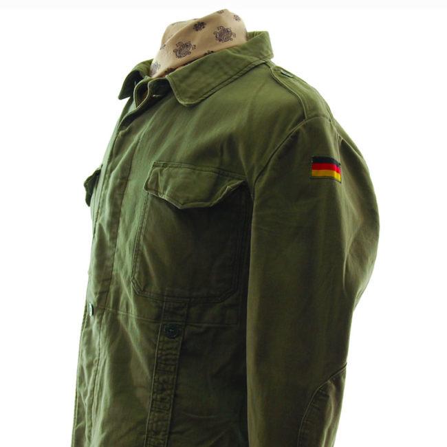 side of Vintage German Military Jacket