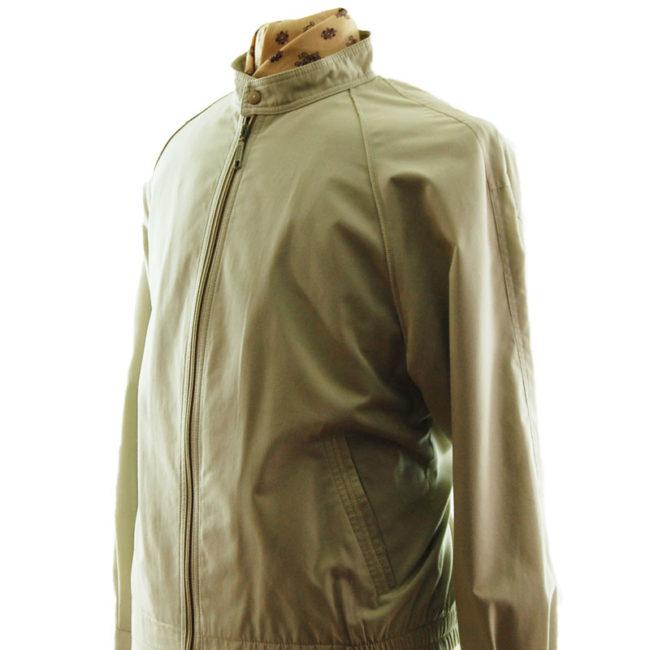 side of Vintage Mens Cream Long Jacket