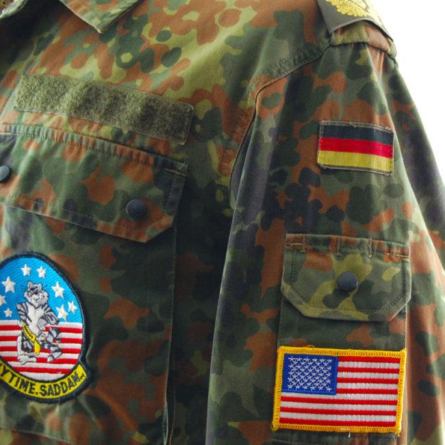 sleeve of 1996 Flecktarn Camouflage Jacket