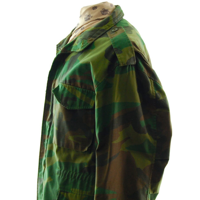 sleeve of Real Military Camouflage Jacket