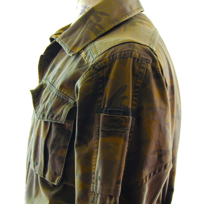 sleeves of O'Neill Camo Military Inspired Jacket
