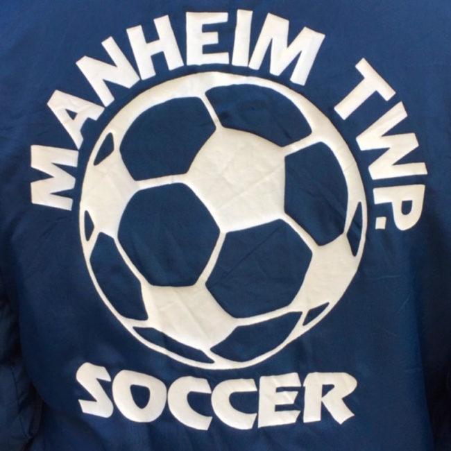 symbol on Soccer Club Baseball Jacket