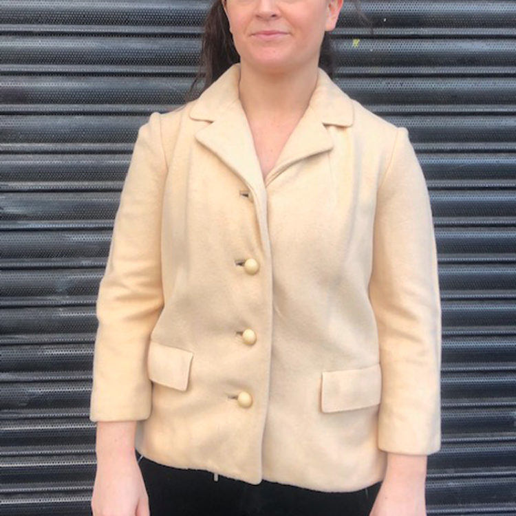 60s Pure Cashmere Cream Jacket