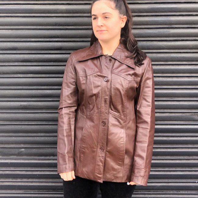 70s Real Brown Leather Jacket
