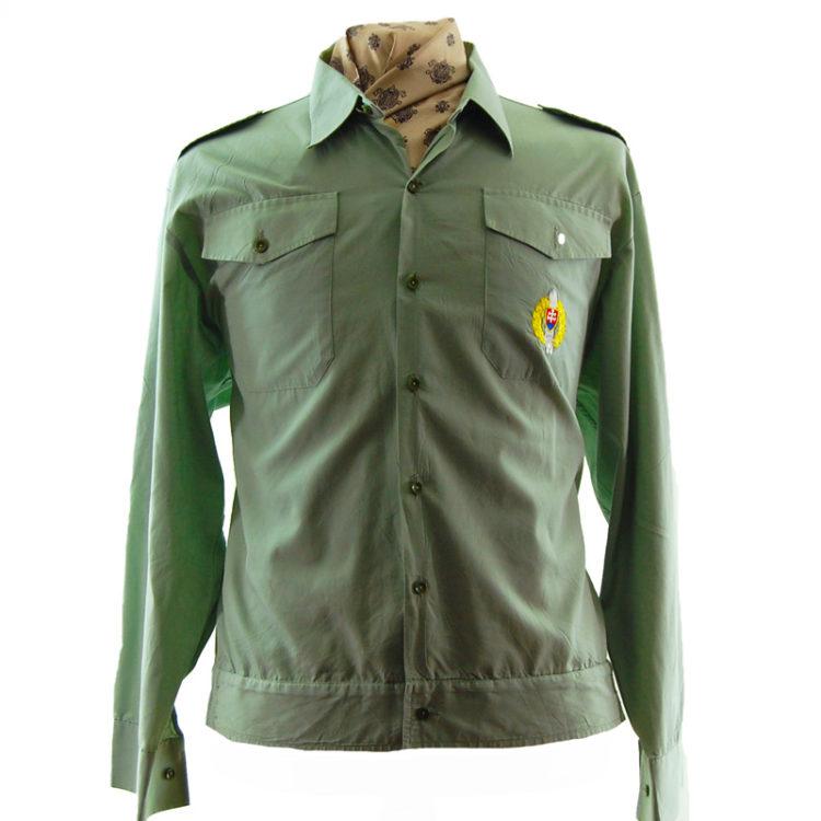 80s Light Green Shirt