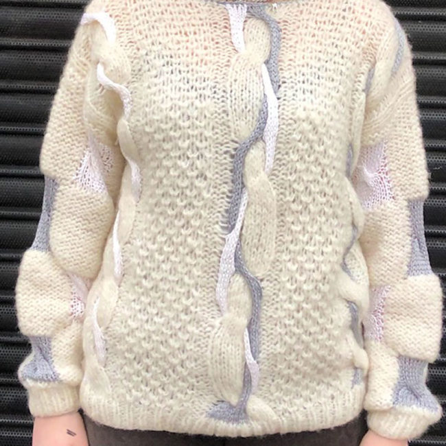 80s Mohair And Wool Sweater