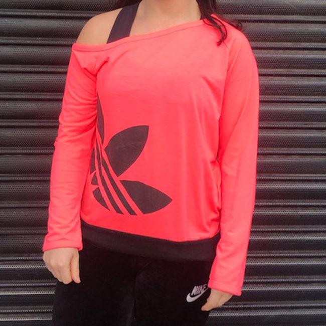 Adidas Neon Pink Tee Shirt
