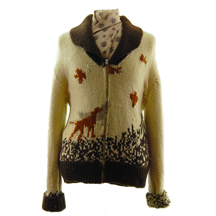 Animal Scene Buffalo Cardigan