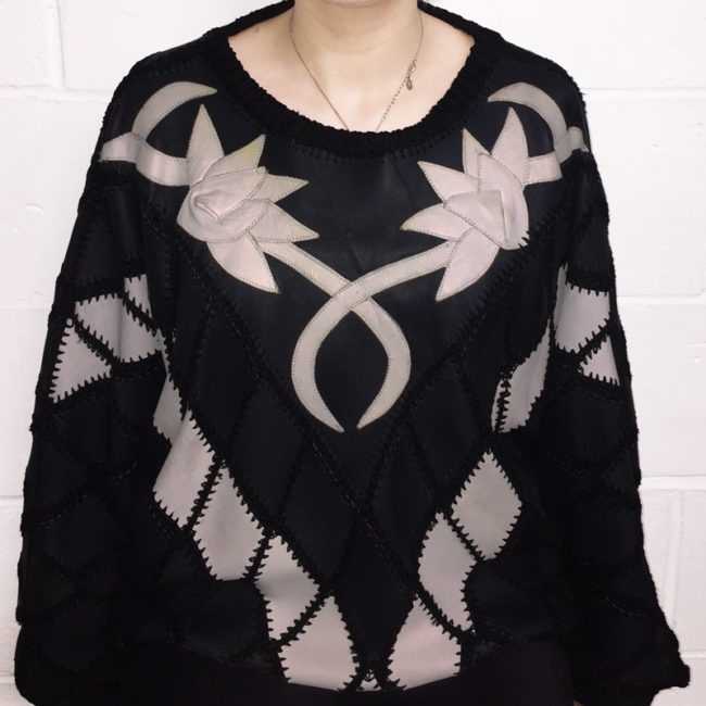 Black And White Patchwork Jumper