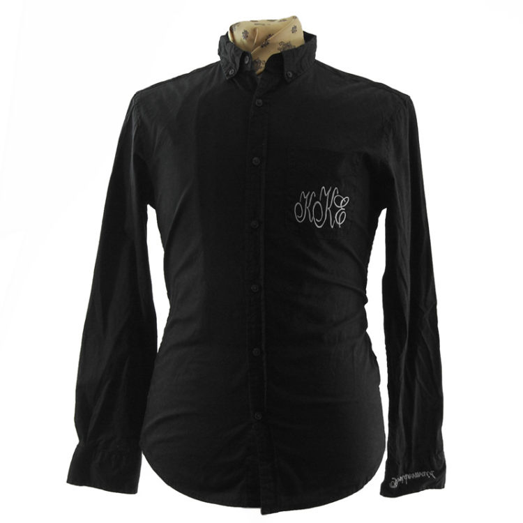 Black Embroidery Detailing Shirt