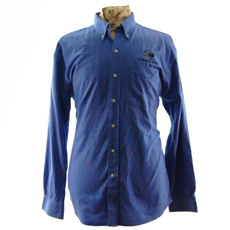 Blue Corvette Work Shirt