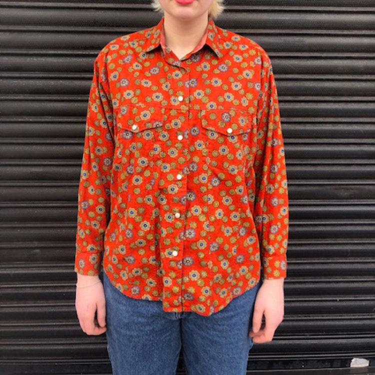 Burnt Orange Floral Shirt