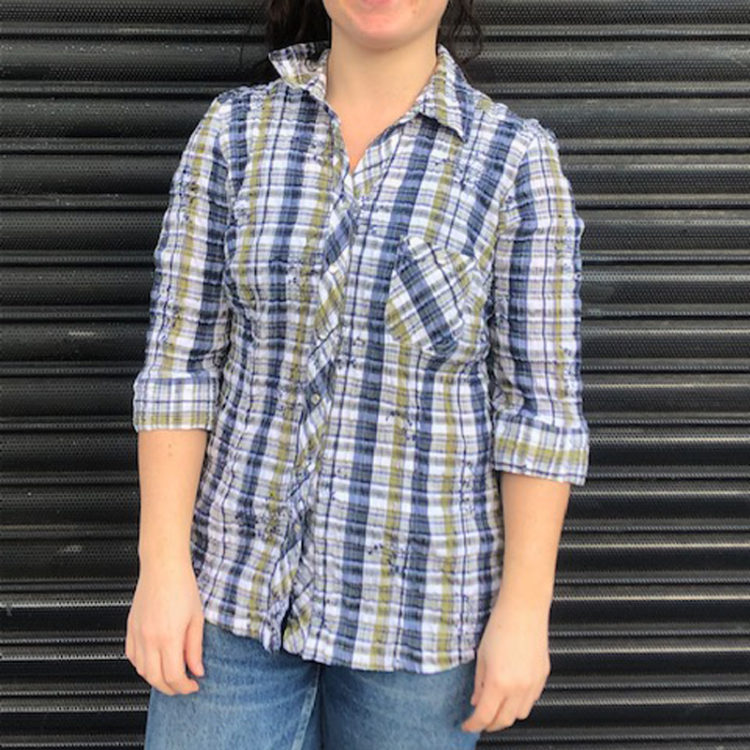 Denver Hayes Madras Plaid Shirt