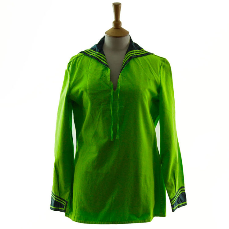 Florescent Green Long Sleeve Sailor Top