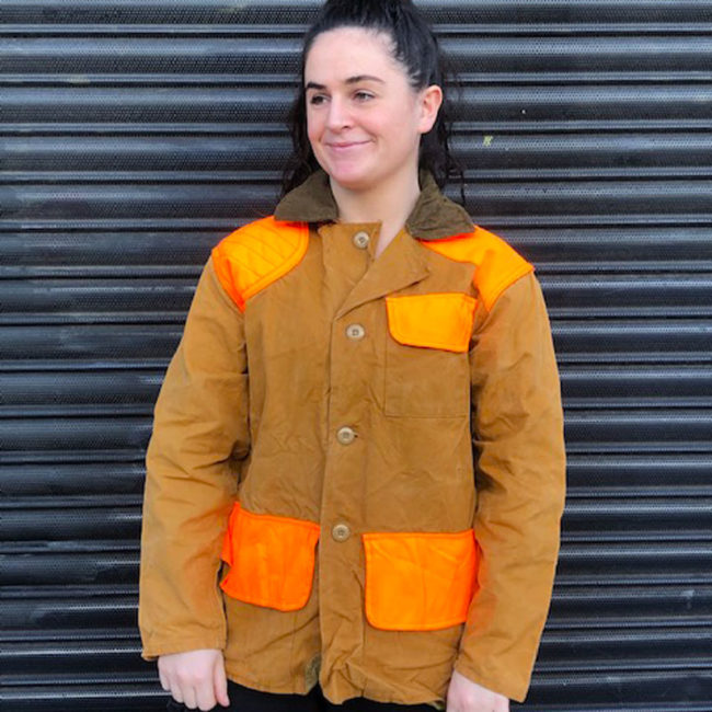 Florescent Orange And Canvas Hunting Jacket