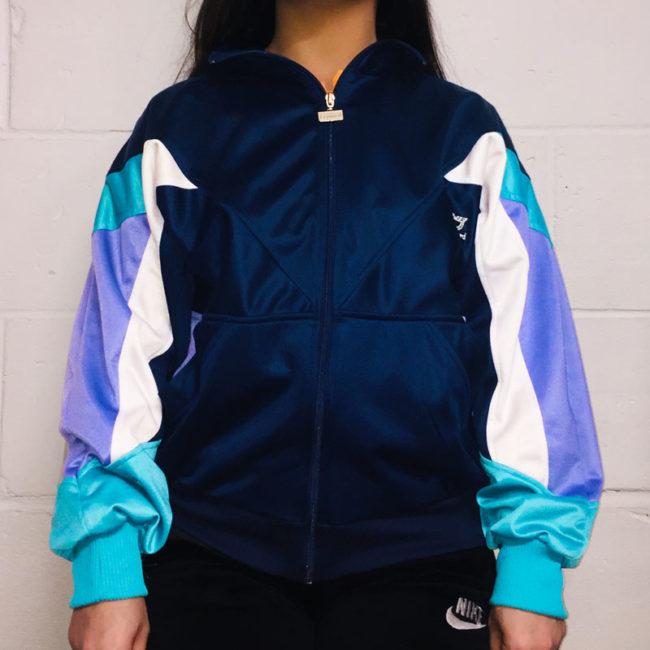 Leopard Block Colour Sports Jacket