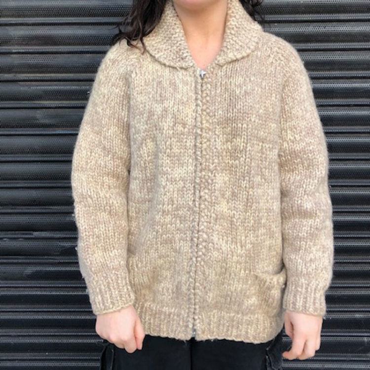 Light Brown Buffalo Cardigan