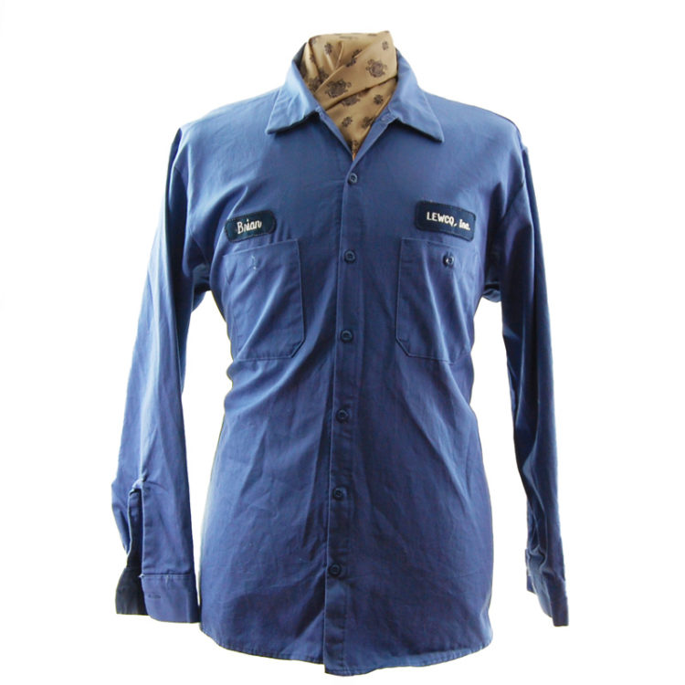 Mens Blue Cintas Work Shirt