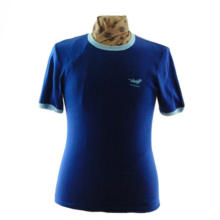 Navy Blue Airways Tee Shirt