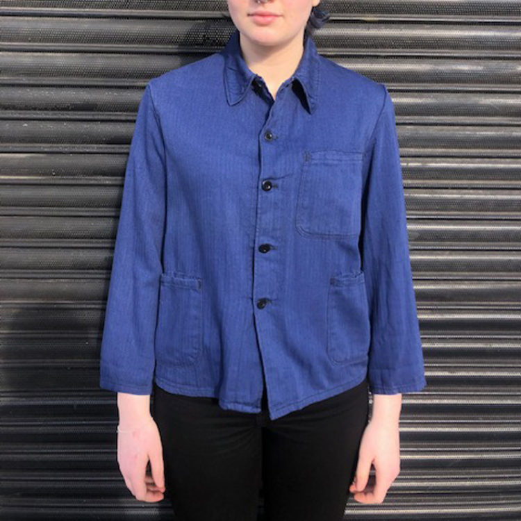 80s Navy Blue Cotton Shirt