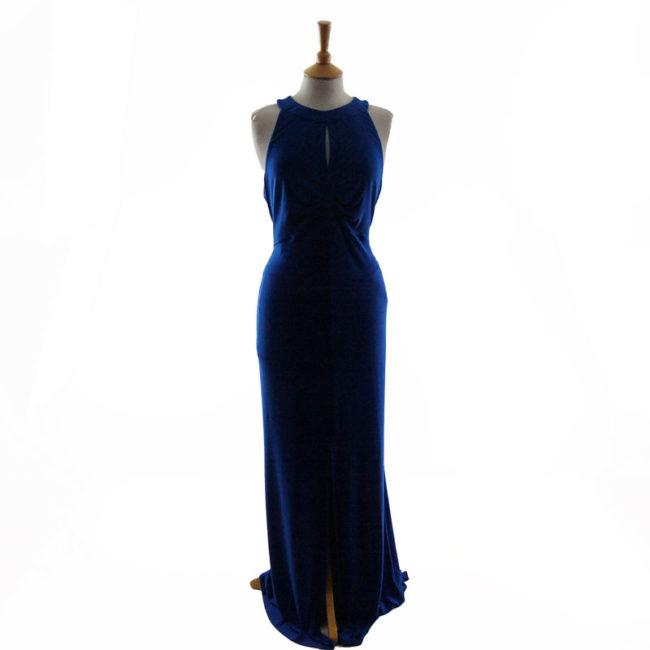 Ossie Clark Blue Evening Dress