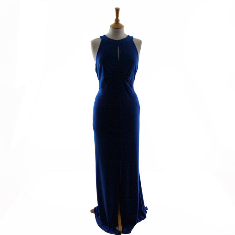 Ossie Clark Blue Evening Dress
